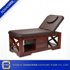 China wholesale massage table hot sale full body massage bed strong heavy duty solid wood massage bed DS-M9009 factory