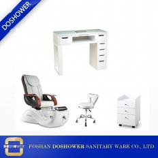 China wholesale nail salon pedicure chair manicure table package deals cheap nail salon station suppliers DS-S17H SET factory