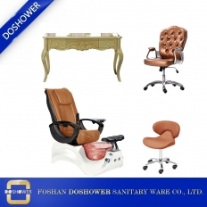 China wholeslae nail salon package luxury nail salon spa chairs manicure table chair nail salon furniture DS-S16A SET factory