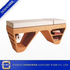 China wooden massage bed with nuga massage bed of sex massage bed factory