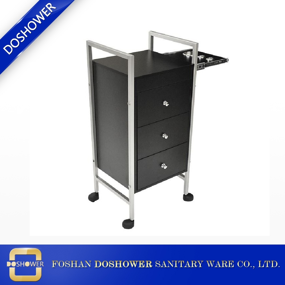 black nail salon trolley stainless steel frame cheap beauty salon